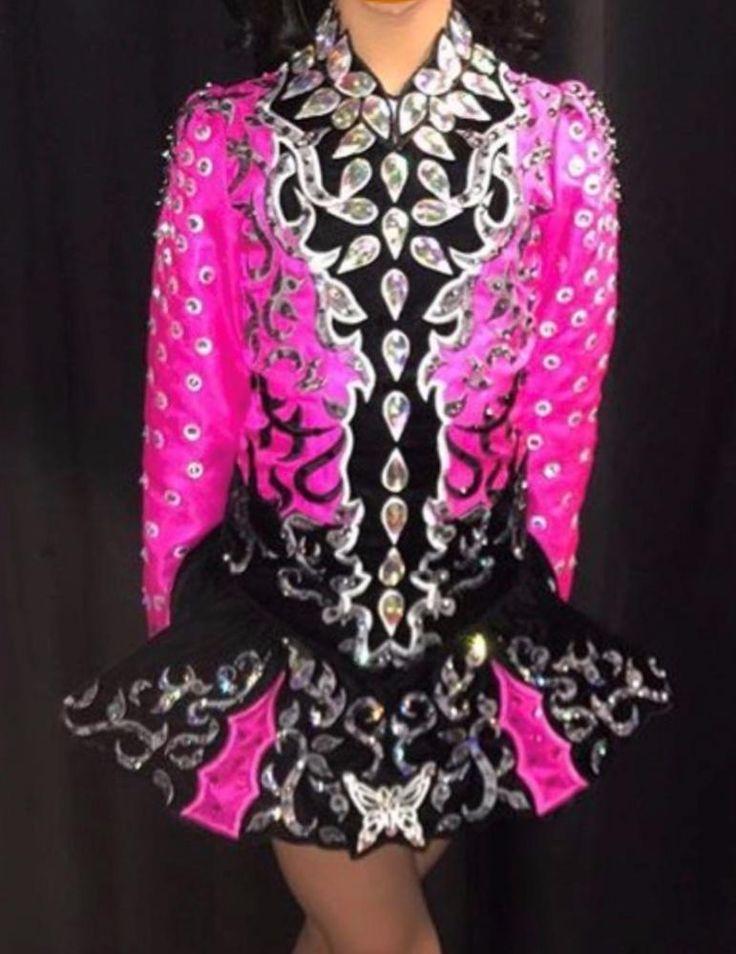 Adorable Pink Taylor Dresses Irish Dance Dress Solo Costume For Sale