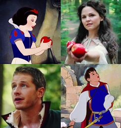 New favorite show meets old favorites. :) Snow and Charming Once Upon A Time
