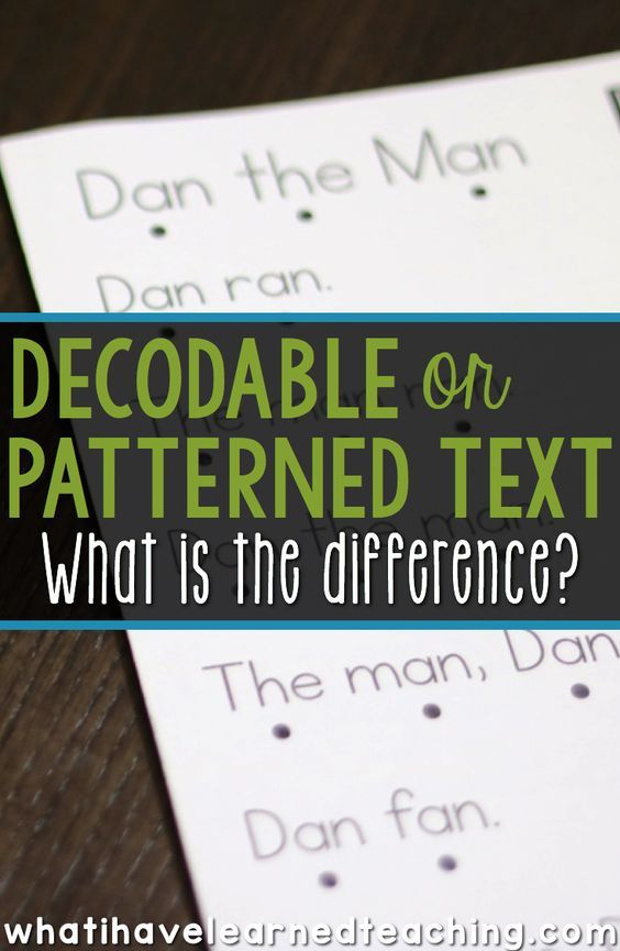 What is the difference between decodable text and predictable or patterned text? When you sit down to plan what you're teaching for your small group reading instruction, how do you make a decision about the kind of text you are putting in front of your students? Find out the differences between these two types of text.