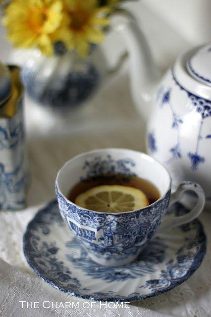 The Charm of Home: Blue & White Tea