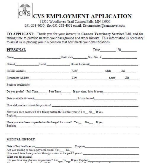 practice job application