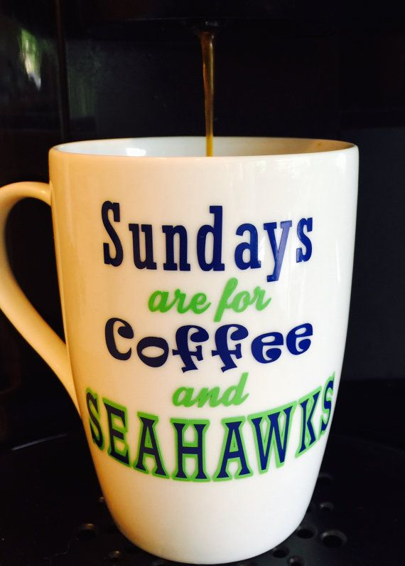 Seattle Seahawks Coffee Cup/Mug by OneHawkMama on Etsy