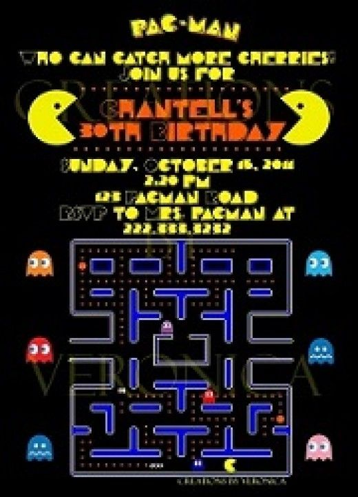 23 Best Pac Man Party Ideas Images On Pinterest Man Birthday