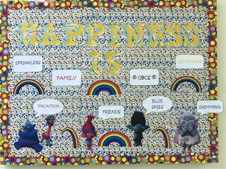 Trolls Happiness bulletin board