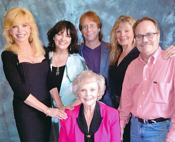 June Lockhart with all her 'kids' at one time or another...Loni Anderson, Angela Cartwright, Bill Mumy, Marta Kristen, Bill Mumy and Jon Provost.