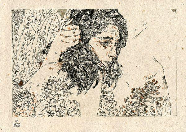 Drawings by London-based Michael Howard