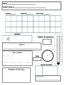 "Have you ever wanted your students to gain more from the daily routine of the Saxon Math calendar instead of simply completing the daily count? This paper will allow students to work as the ""Student of the Day"" everyday! Simply fill out the calendar information on the math meeting board, give each student a copy of this paper, and have them complete it independently."