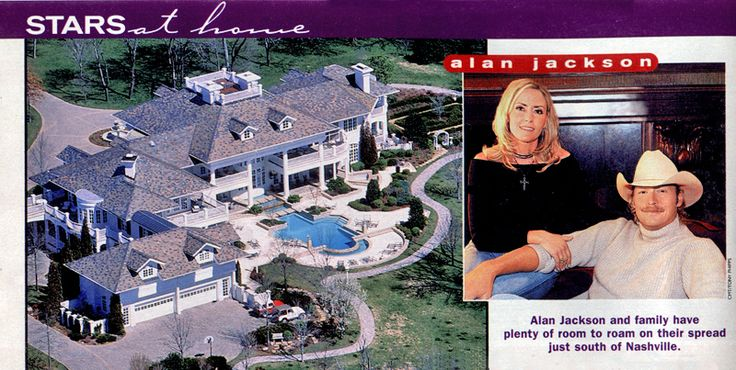 Alan Jackson's 'Sweetbriar' home in Franklin, Tennessee ...