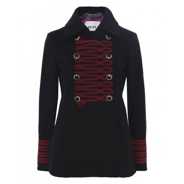 Bazar Deluxe Military Jacket (€785) ❤ liked on Polyvore featuring outerwear, jackets, military jackets, army jackets, field jackets and bazar deluxe