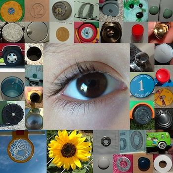 Intro. to photography.  give each student a different shape to find around the school.