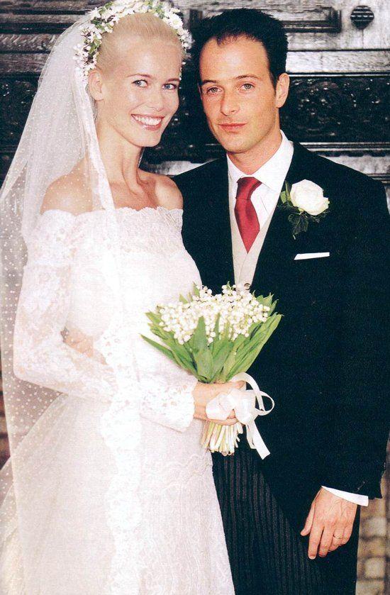 May 25, 2002: German supermodel, Claudia Schiffer, marries English film director, Matthew Vaughn.  They have three children.