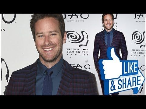 Looking sharp! Armie Hammer puts on a stylish show in burgundy and blue check suit at NY Film Criti