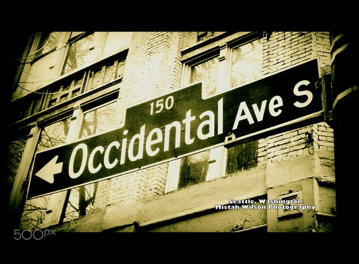 Occidental Avenue South Seattle Washington by Mistah Wilson Photography by Mistah Wilson on 500px