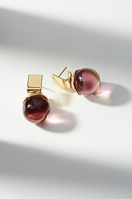 Colette Malouf Gemology Lucite Orb Ear Cuff