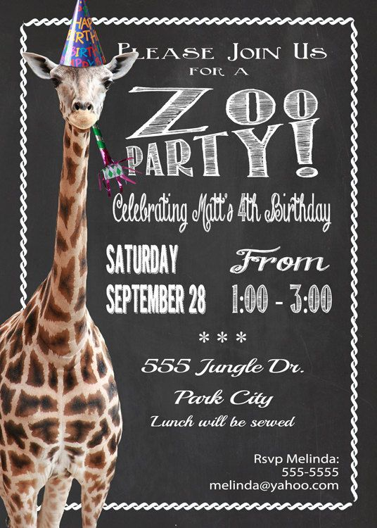 322 best Animal Party Invitations images – Printed Party Invitations