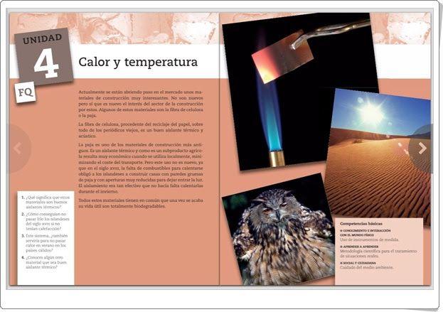 """Unidad 4 de Ciencias de la Naturaleza  de 2º de E.S.O.:""""Calor y temperatura"""""""