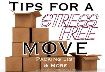 Ask Anna...: Tips for a Stress-Free Move: Packing checklist & more...oven and washing machine cleaning tips...etc..