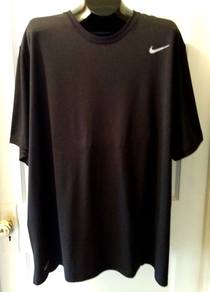 af159a99cdf Nike Dri Fit Mens 3XL Black Short Sleeve Athletic T Shirt Crew Swoosh  Graphic  Nike  ActivewearShortSleeve