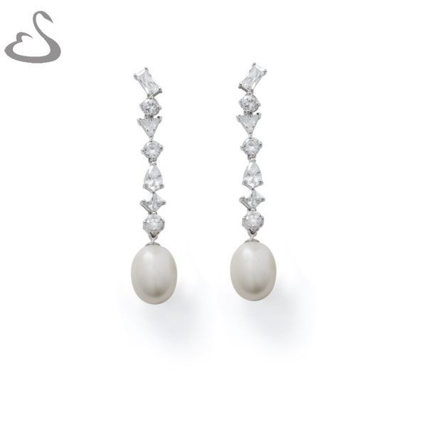 925 Sterling Silver, Cubics and Fresh Water Pearls. Code: ER-140. Company: Vera's Bridal Collection. Website: www.verasbridalcollection.co.za