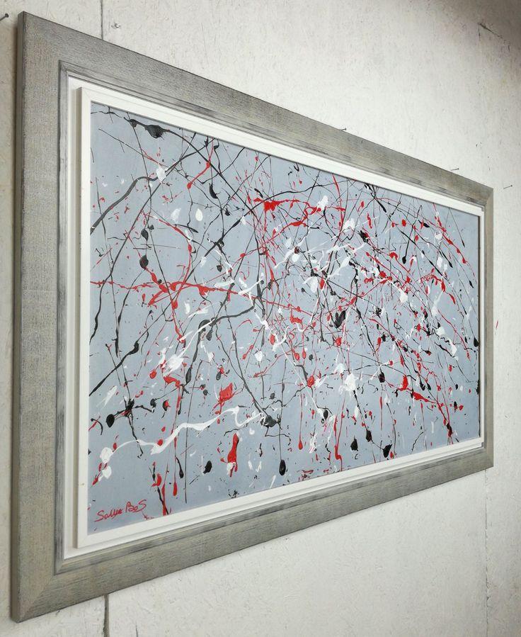quadro astratto moderno olio su tela 120x60 per info: http://www.saurobos.it/prodotto/quadri-astratti-moderni-cornice/