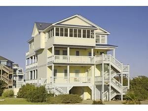 Outer Banks (OBX) rental: The Parrot Head Inn - Ocean Side 6 bedroomshouse in Salvo, Hatteras Island,