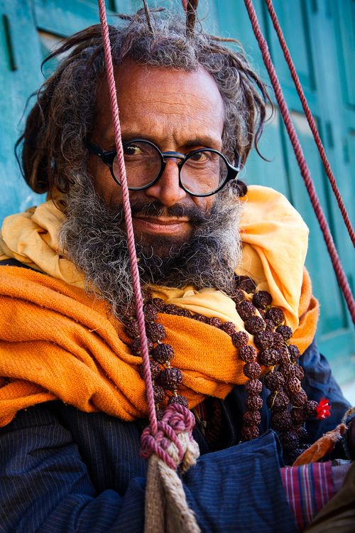 v-agabonds:  Portrait of a Sadhu, Hindu holy man, the day after the Maha Shivaratri festival, at the UNESCO World Heritage Site of Pashupatinath. (by © Coole Photography)