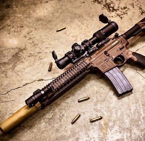 Daniel Defense MK18 w/U.S. Optics scope, SureFire light, SureFire SOCOM Suppressor