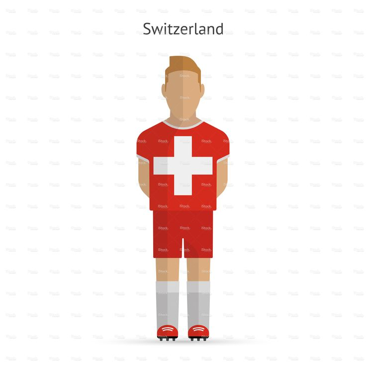 Switzerland football player. Soccer uniform.