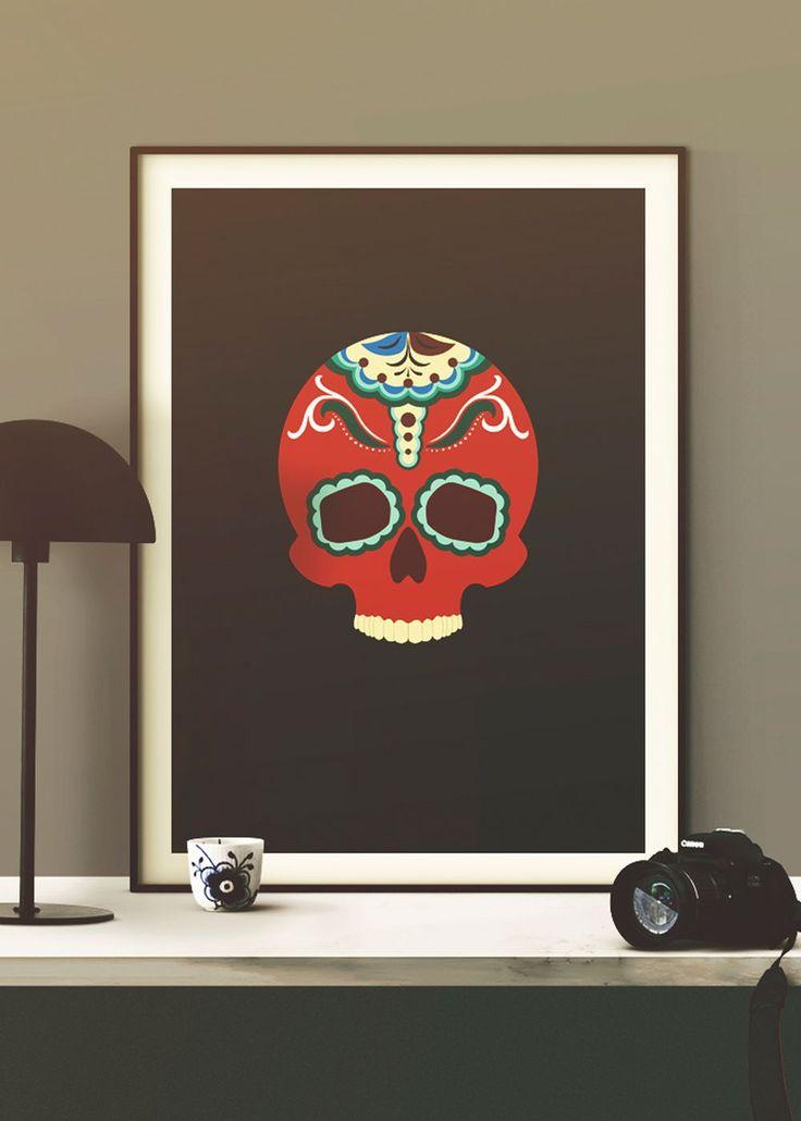 Calavera de Dalaran, a swedish/mexican kurbitz skull.