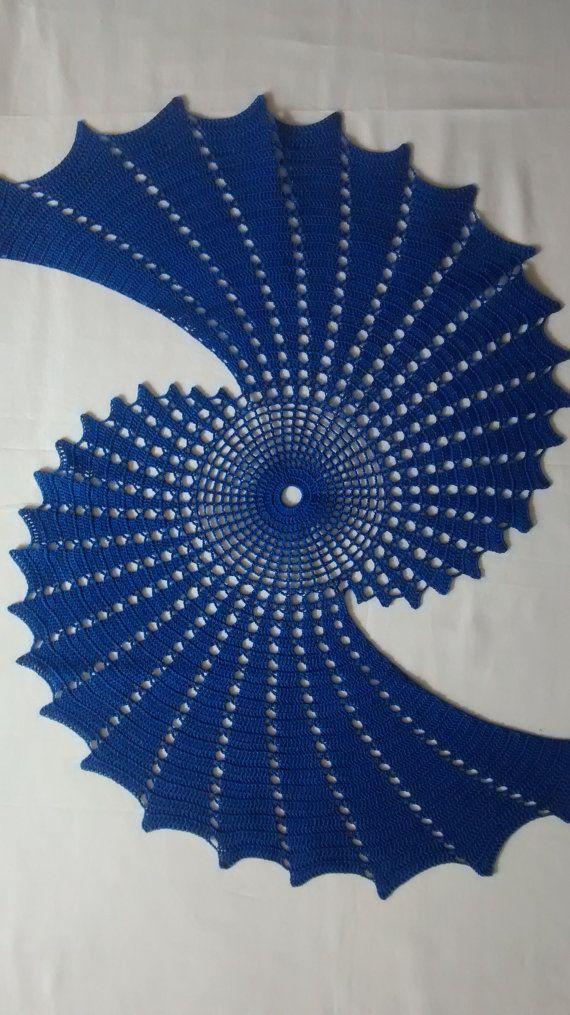 Fractal crochet centerpiece, doily makes a unique statement.