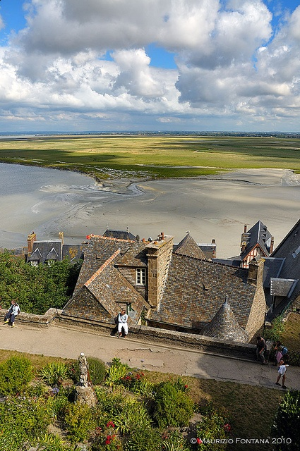 View from Mont St Michel to the Mainland