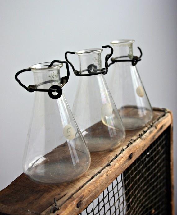 vintage laboratory jars
