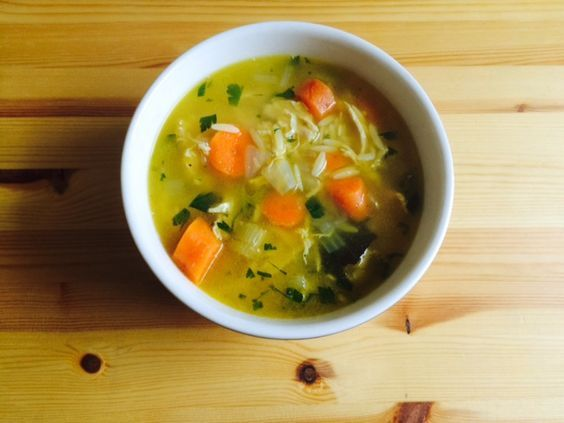 Lemon Chicken Orzo Soup: Light, healthy meal for an upset tummy. Or just to stay warm.