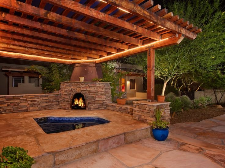 Backyard Hot Tub Ideas image of hot tub landscaping design Find This Pin And More On Backyard Ideas Pergola With In Ground Hottub