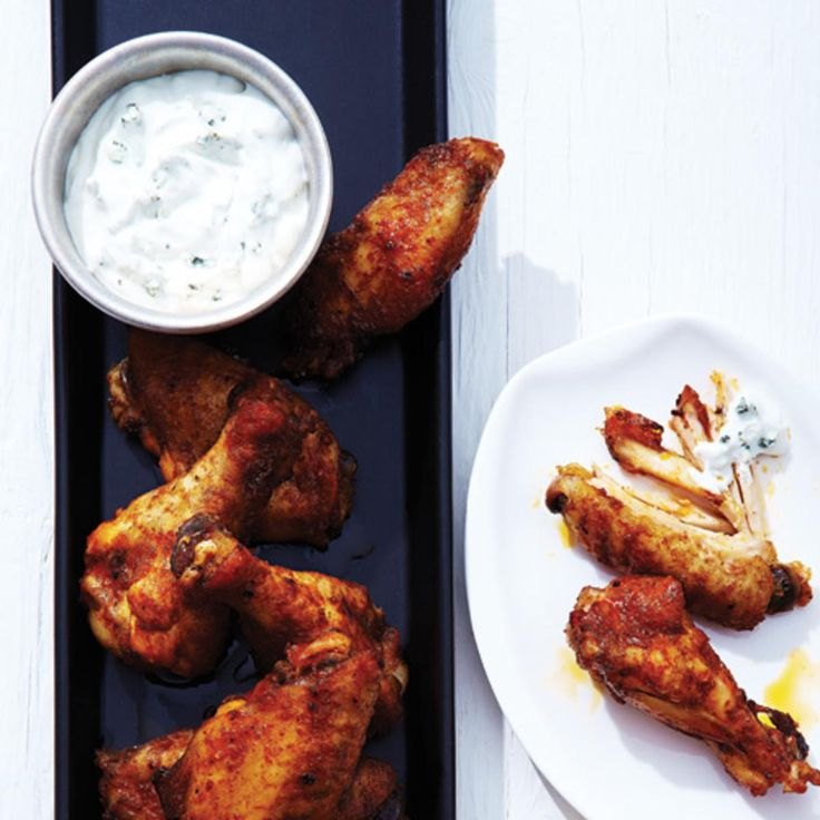 Spicy Chicken Wings with Blue Cheese Dip. Try our hot 'n' spicy wings, which rival the ones you'd find at your local sports bar, on Super Bowl Sunday, movie nights or even for simple weeknight suppers – and don't forget the Blue Cheese Dip!