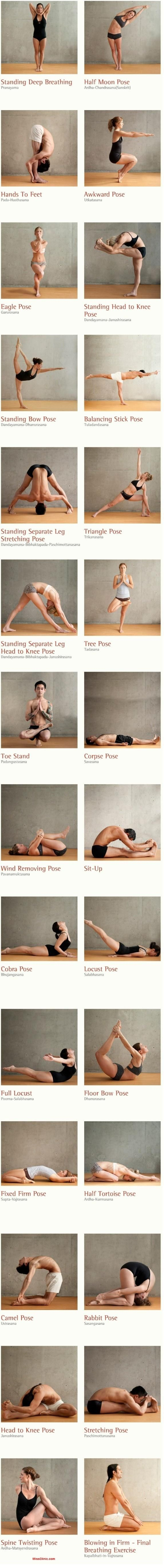 yoga poses! I can do the corpse pose!! As for the others well.......