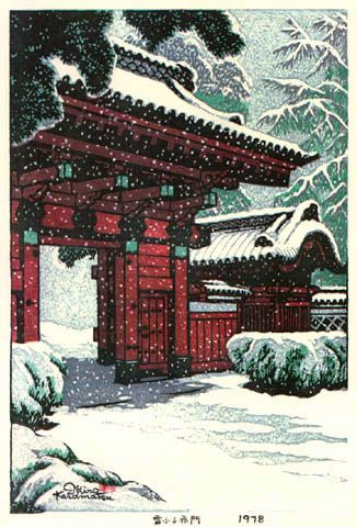 Red Gate in the Snow, by Shiro Kasamatsu, 1978: