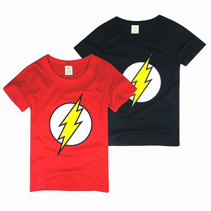 The Flash Logo Children's Tees of the Super Hero Series T Shirt Cotton New Fashion Short Sleeve Cool Tee 5sizesfrom Betty9907,$6.6 | DHgate.com