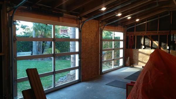 Full View Modern Anodized Aluminum Clear Tempered Glass Garage Door Kitchendoors Glass Garage Door Cheap Garage Doors Door Design Interior