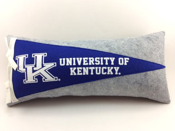 University Of Kentucky Man Cave Ideas : Best images about college pennant pillows on pinterest