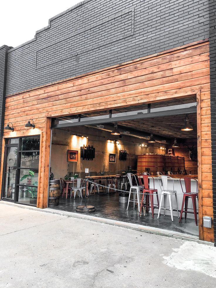 Industrial Taproom And Coffee Shop With Awesome Garage