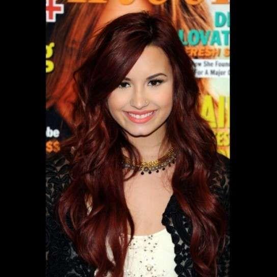 Demi Lovato: Fotos de sus mejores looks de belleza - Demi Lovato: Pelo rojo