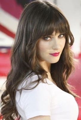 Hairstyle With Bangs this type of a hairstyle Hairstyles With Bangs Long Layered Bangs Zoey Deschanel Httpwww