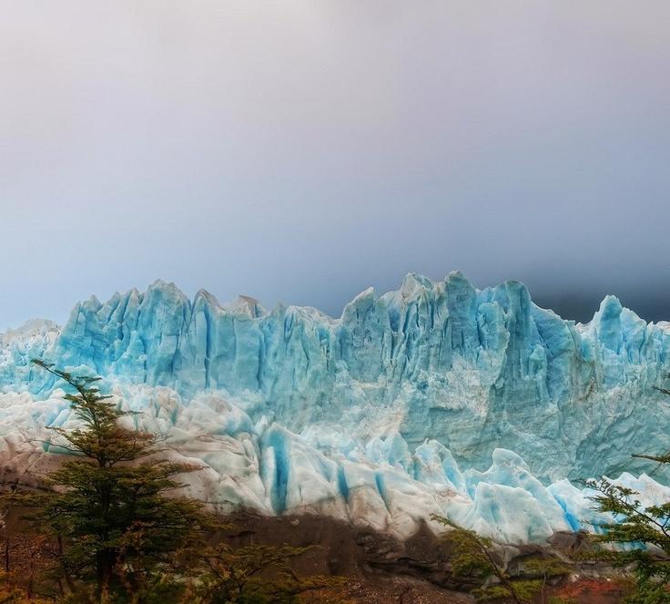 Glacier in the fog...El Chalten, Argentina. Stuck in Customs