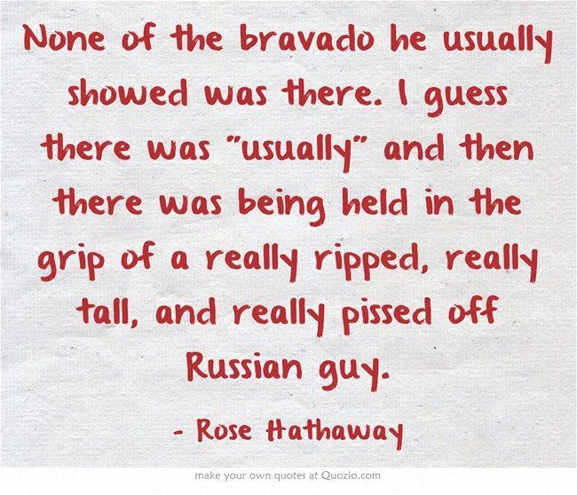Vampire Academy Quotes | Rose Hathaway abou Jesse Zeklos