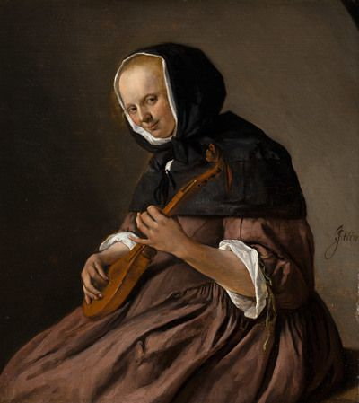 Woman Playing the Cittern | 1662 | Mauritshuis | Public Domain Marked