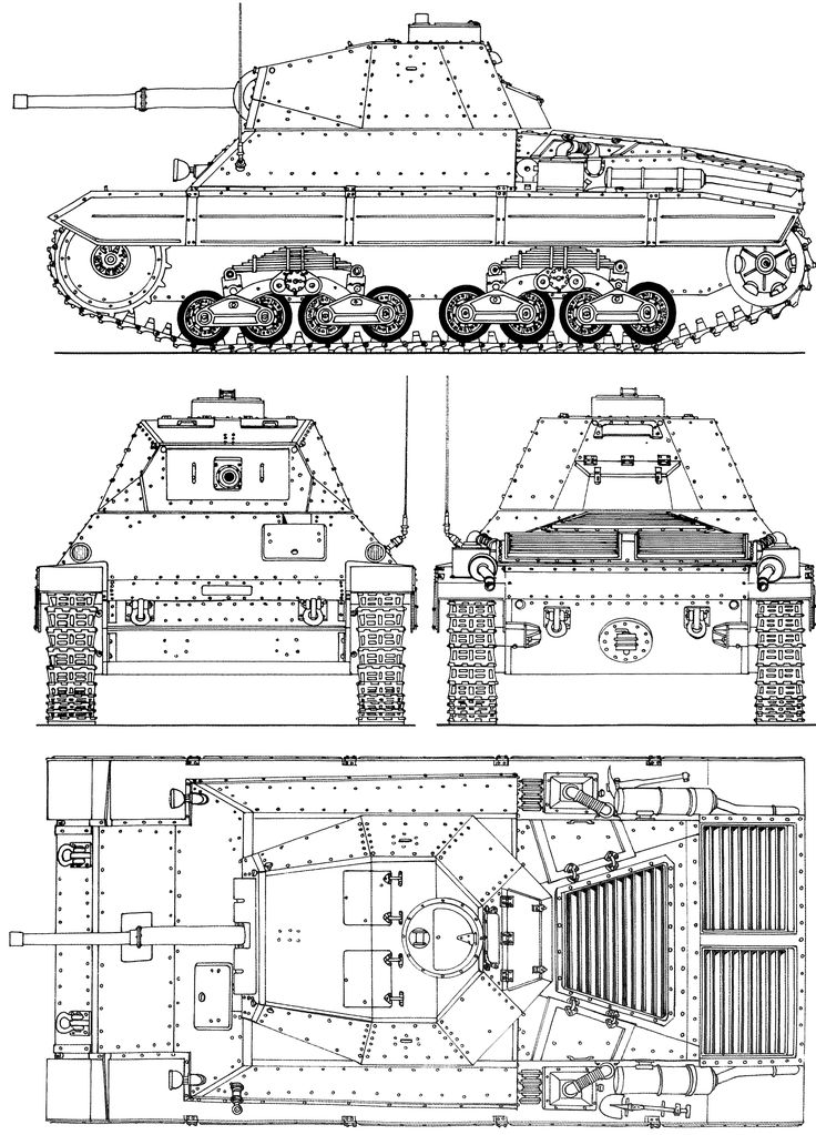 P43 tank blueprint