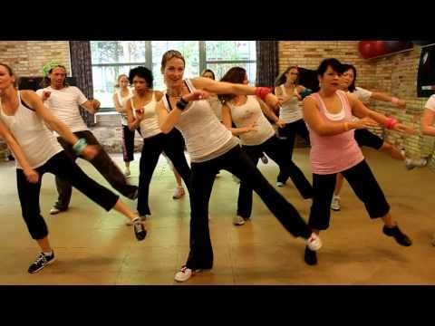 this is so funny, i would feel bad to mess up this...Ester Dean - Drop It Low   Zumba with Tara (warmup)
