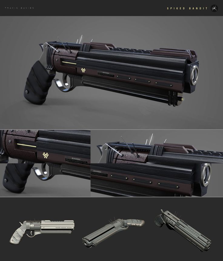 Spiked Bandit - Exotic Hand Cannon, Travis Davids on ArtStation at https://www.artstation.com/artwork/spiked-bandit-exotic-hand-cannon