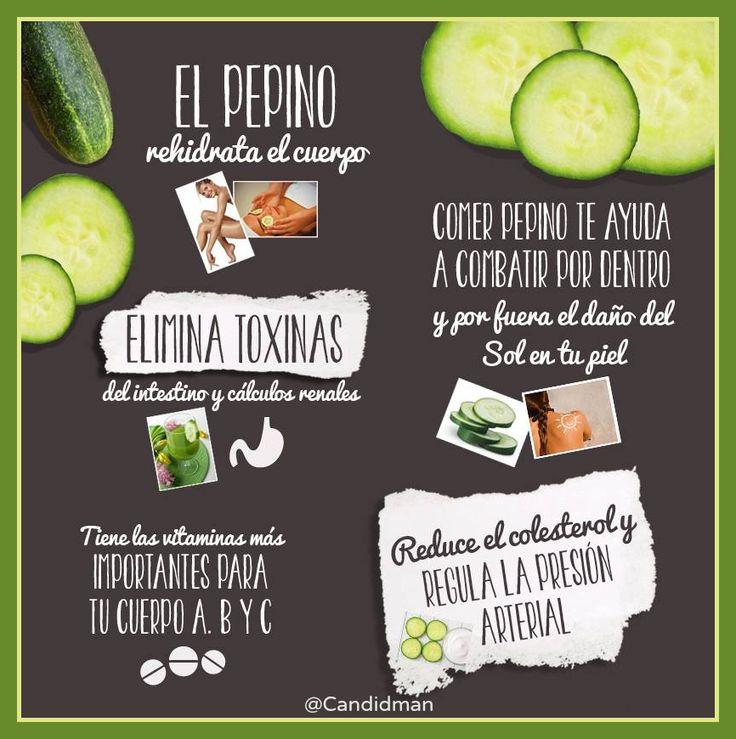 Infografia: Beneficios para la Salud del Pepino...